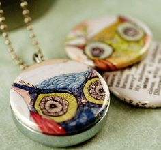 Magnetic Owl Locket Necklace Set by Polarity