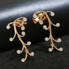 2pcs Willow Earrings Flower Right/Left Ear Earcuffs