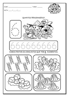Alfabetizando com Mônica e Turma: Números de 1 a 9 Number Activities, Classroom Activities, Preschool Math, Kindergarten Math, Writing Numbers, All Schools, Math For Kids, Galaxy Wallpaper, Worksheets