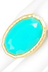 Bright Turquoise Stretch Ring - $14.75