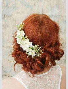 Wedding headpiece, white flower comb, shabby chic bridal comb, flower hair comb - Elora - Hair accessories by Gardens of Whimsy on - Redhead makeup - Wedding Hair And Makeup, Wedding Hair Accessories, Hair Makeup, Hair Wedding, Headpiece Wedding, Wedding Beauty, Redhead Makeup, Gold Wedding, Wedding Bride