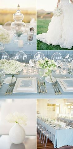 baby blue, wedding design color feel add pop of blue ombré to electric blue matching b maids