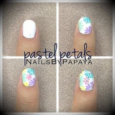 I just posted how to get these #PastelPetals on my blog! ForeverPapaya.blogspot.com Go check it out! :) #nails #nailswag #nailpromote #colorful #spring #springnails #sallyhansen #essie #sinfulcolors #nailtech #manicurist #design #art #easter #easterNails #pastelcolors #foreverpapaya #foreverpapaya92 @Anaia Papaya @NailsByPapaya