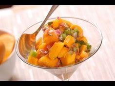 Ceviche de mango, cilantro, cebolla, pimiento verde y limón Video Tutorial