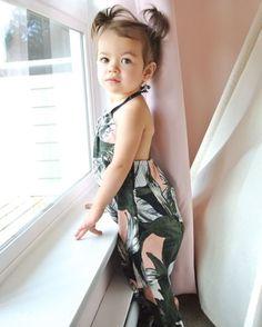 Tropical leaves Jumpsuit - Jayanie Soroka & Aleia Tropical Leaves, Jumpsuit, Autumn, Collection, Summer, Baby, Fashion, Diaper Change, Products