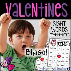 Easy baby bingo game simple word bingo 7 sharon pattee valentines day