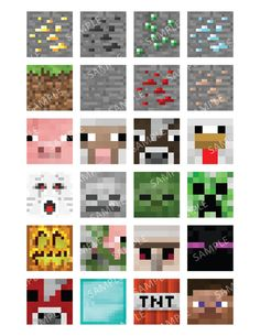 Minecraft Digital Collage Sheet 15x15 or by CreativeCreekStudio