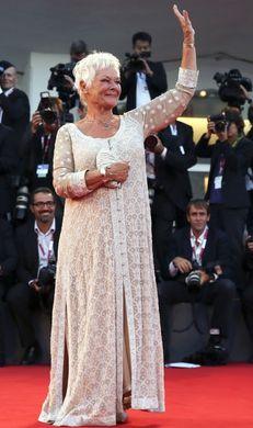 Judi Dench in Abu Jani & Sandeep Khosla Gown at Venice Film Festival | Strandofsilk.com - Indian Designers