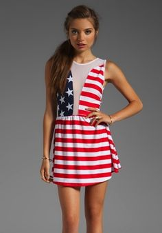 <b>Yes, it's possible to wear American flags and not look like you washed up from the Coachella cruise.</b> In fact, you can look downright cute.