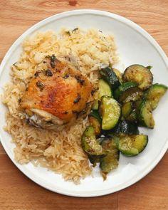Garlic Herb Chicken And Rice Bake
