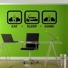 Eat Sleep Game Sticker Vinyl Wall Art