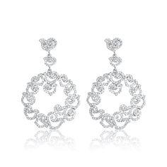 Cercei argint Surub Drop Earrings Zirconii Cod TRSE083