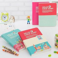 2014 Weekly Planner Journal Organizer Korean Hello Coco Diary Cute Illustration | eBay