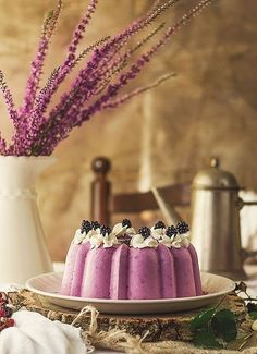 Blackberry Panna Cotta. . .