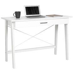 Merlot Single Drawer Desk White or oak, $139