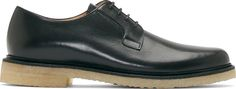 A.P.C. - Black Leather Crepe Sole Derby