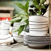 Williams Sonoma Open Kitchen Bistro Salad Plates, Set of 4, Black