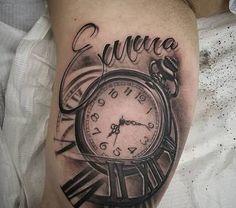 Image result for diseños de tatuajes con nombres en la pierna