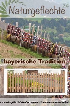 Zaun von Bayern In Bavaria there is still the tradition of wooden fences. A trip / excursion and eve