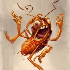#cockroach #cartoon #tiago_hoisel ★ Find more at http://www.pinterest.com/competing/