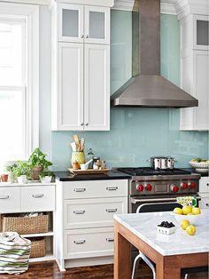 fliesenspiegel glas küchenrückwand plexiglas blau | rehbein ... - Glas Küchenrückwand Fliesenspiegel