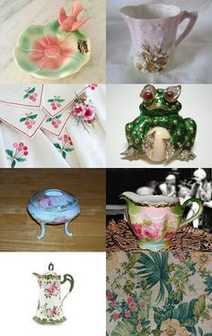 Pink and Green, Spring and Easter with VTPassion by Lynne Goundry on Etsy--Pinned with TreasuryPin.com