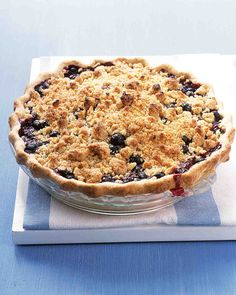 Fruit Pie with Crumb Topping - made this with mixed frozen (defrosted) berries, mostly blueberries, and a store bought crust. It was decent. I wasn't wild about the blueberries. The boyfriend loved it. Used the crumble on an apple pie too and it was amazing.