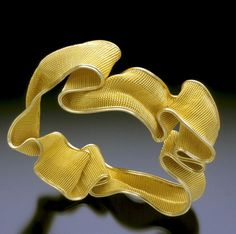 Woven 18 and 20-karat gold Bracelet by Mary Lee Hu