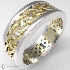 14k gold Celtic Ring #GoldCelticRing #IrishRings #CelticRing Silver Claddagh Ring, Claddagh Rings, Celtic Knot Ring, Celtic Rings, Irish Rings, Rings For Men, White Gold, Wedding Rings, Engagement Rings