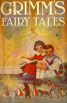 Rare Grimms Fairy Tales ~ 1924 illustrated by Edwin John Prittie , a well-known illustrator in the USA in the early 20th. Century
