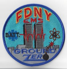 RARE FDNY EMS BN4 NEW YORK FIRE DEPARTMENT PATCH NY ~~~ REAL DEAL~~~