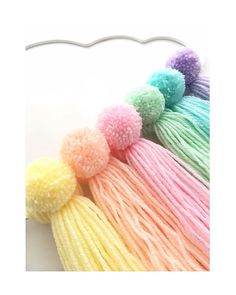 Rainbow pom poms love making these pompom wip workinprogress rainbownursery rainbow rainbowcloud 35 super cool pom pom projects Crafts For Teens To Make, Crafts To Sell, Diy And Crafts, Arts And Crafts, Pom Pom Crafts, Yarn Crafts, Pom Pom Diy, Faraway Tree, Pom Pom Garland
