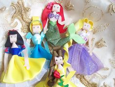 Princess Hair Clips (Set of 5) Etsy-- SOOOO CUTE