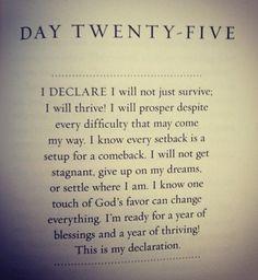 Day 25: declaration