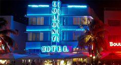 The Colony Hotel, Ocean Drive, Miami Beach http://www.lafloride.com/miami-art-deco.html