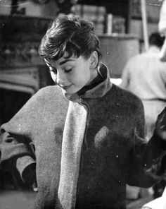 Audrey Hepburn photographed by William Read Woodfield on the set of Sabrina, 1953.