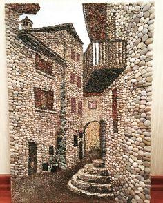 Pebble mosaic, Çakıl taşı Pebble art Pebblemosaic Taş sokak - Salvabrani Pebble Mosaic, Pebble Art, Mosaic Art, Mosaic Glass, Glass Art, Mosaic Garden, Mosaic Crafts, Mosaic Projects, Stone Crafts