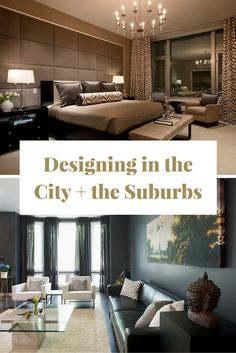 Designing in the City and the Suburbs - There are some considerable differences between designing in a high-rise versus a palatial Victorian, and every home in between. So, we asked Chicago interior designers Michael Abrams and Brianne Bishop about how they navigate these different environments.  #urbandesign #interiordesign #homedecor #decor #design