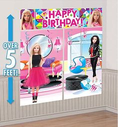 Barbie Scene Setter DecorationFast Shipping5 pieces per package