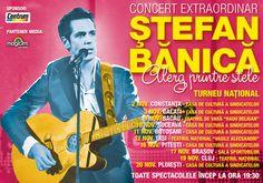 "Concert Stefan Banica in Iasi: ""Alerg printre stele"" Stele, Liberia, Comic Books, Comics, Cover, Movie Posters, Film Poster, Comic Book, Comic Book"