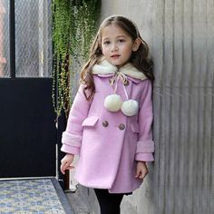 33.12$  Buy here - http://aiteq.worlditems.win/all/product.php?id=32437330392 - New autumn/winter children's clothing outerwear for girls overcoat trench and parkas lovely and sweet coat wool and blends