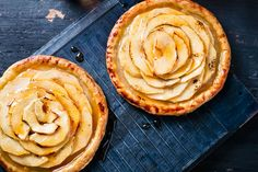 Valli's French Apple Tarts with Calvados Cream | Channel your inner French persona with this delectable French apple tart recipe.