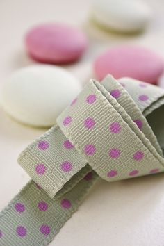 Pistachio and Pink Dotty Ribbon