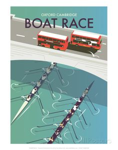 Boat Race - Dave Thompson Contemporary Travel Print Posters by Dave Thompson - AllPosters.co.uk