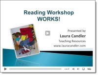 Free Reading Workshop Works webinar recording - Laura Candler explains how to get a basic reading workshop up and running in just a few weeks