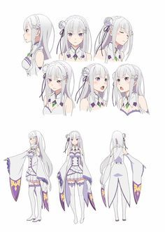 Re:Zero anime character designs. Character Model Sheet, Character Modeling, Character Drawing, Game Character, Character Concept, Wie Zeichnet Man Manga, Estilo Anime, Animation, Re Zero
