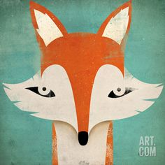 Love his prints: Native Vermont studio is the graphic art and illustration of Ryan Fowler. Ryan's illustrations are vintage in style, yet contemporary and whimsical. Art And Illustration, Fuchs Illustration, Illustrations, Canvas Wall Art, Canvas Prints, Art Prints, Framed Prints, Art Mur, Fox Print