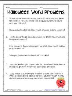 math worksheet : monster math  free printable world problems for halloween  math  : Decimal Word Problems 5th Grade