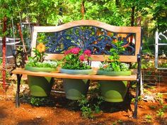 new life for old park bench, diy, gardening, painted furniture, pallet, repurposing upcycling, woodworking projects