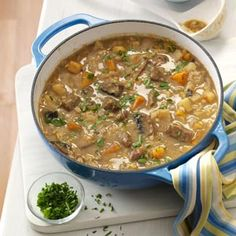 I tried this last night! This is the best recipe EVER. If I had to eat one soup for the rest of my life...this would be it. I used elk meat instead of beef. Tara